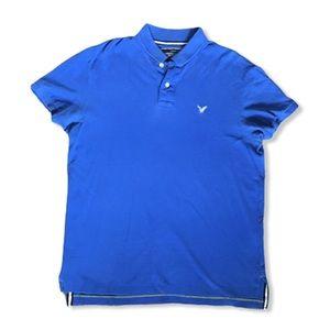 American Eagle Vintage Fit Polo Royal Blue